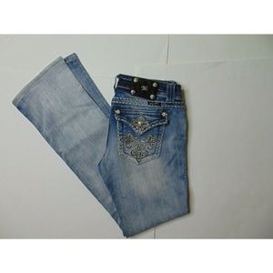 Miss Me 29 X 33 Boot Cut Blue Jeans Stretch Denim
